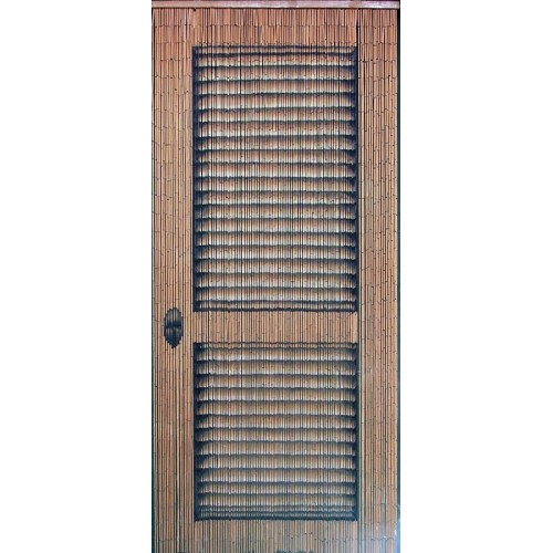 Bamboo curtain door