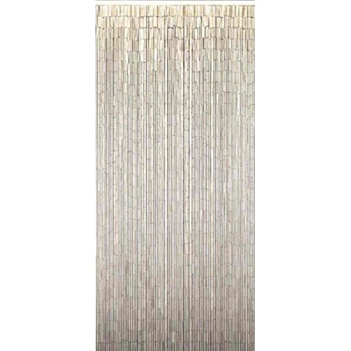 Bamboo Door Curtain Plain White