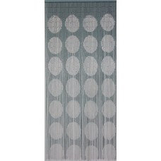 Bamboo Door Curtain Silver Spots