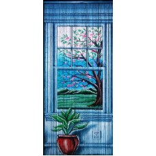 Bamboo Door Curtain Window
