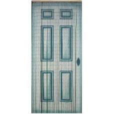 Bamboo Door Curtain Blue Door