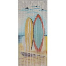 Bamboo Door Curtain Two Boards - Surfing theme