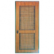 Bamboo Door Curtain Brown Door