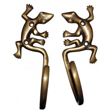 Brass Gecko Hooks Large (2 Set)