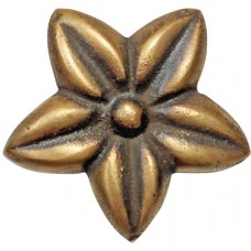Brass Knob Frangipani Flower Handle