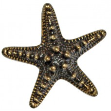 Brass Knob Starfish Large
