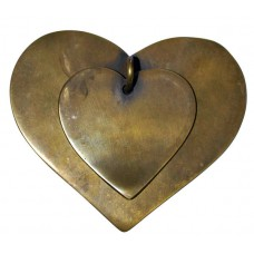 Brass Heart Shaped Drawer Pull