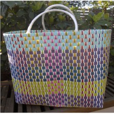 Carry All Large Woven Tote Bag - Petunia Design