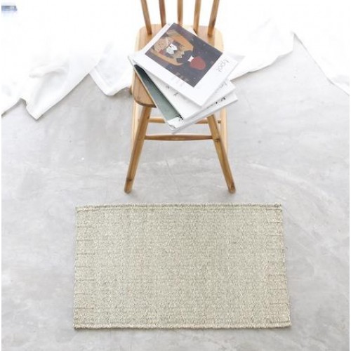 Mekong River DoorMat - 45cm x 70cm - Twisted Seagrass Natural Fibre - 5 Pieces - DM11