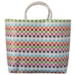Carry All Large Woven Tote Bag Daisy