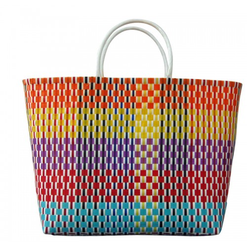 Carry All Large Woven Tote Bag -  Lily
