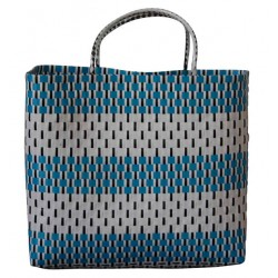 Carry All Large Woven Tote Bag - Manhattan