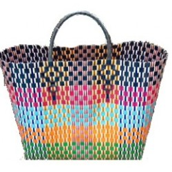 Carry All Large Woven Tote Bag - Sarah