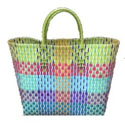 Carry All Large Woven Tote Bag - Ellen