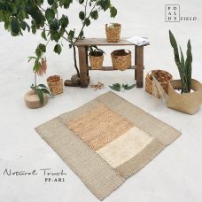 Paddle Field Area Rug - Water Hyacinth, Seagrass and Corn Husk leaf - 180cm x 120cm - AR1