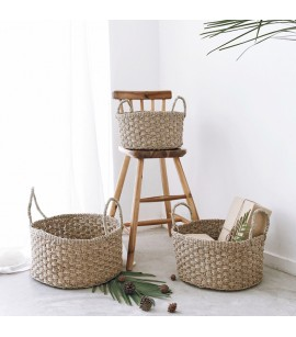 3 PIECE BASKET SET - TWISTED SEAGRASS - NATURAL FIBRE BASKETS - B13