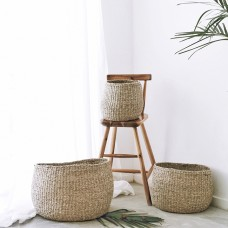 3 PIECE BASKET SET - TWISTED SEAGRASS - SUSTAINABLE NATURAL FIBRE BASKETS - B4